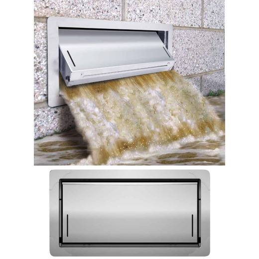 Smart Vent 8 In. x 16 In. Flood Protection Foundation Vent