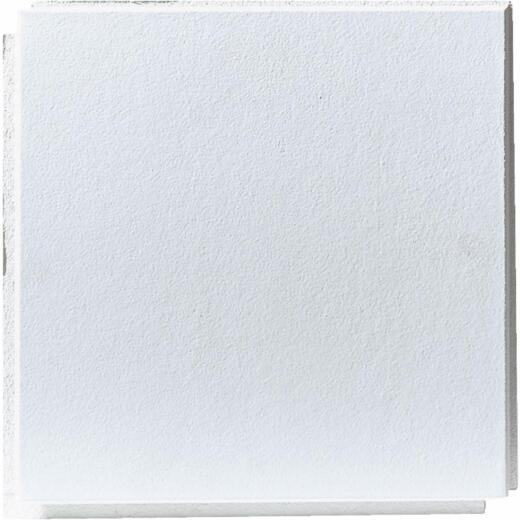 BP Silencio Chablis 12 In. x 12 In. White Wood Fiber Nonsuspended Ceiling Tile (32-Count)