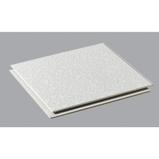 BP Silencio Cambray 12 In. x 12 In. White Wood Fiber Nonsuspended Ceiling Tile (32-Count)