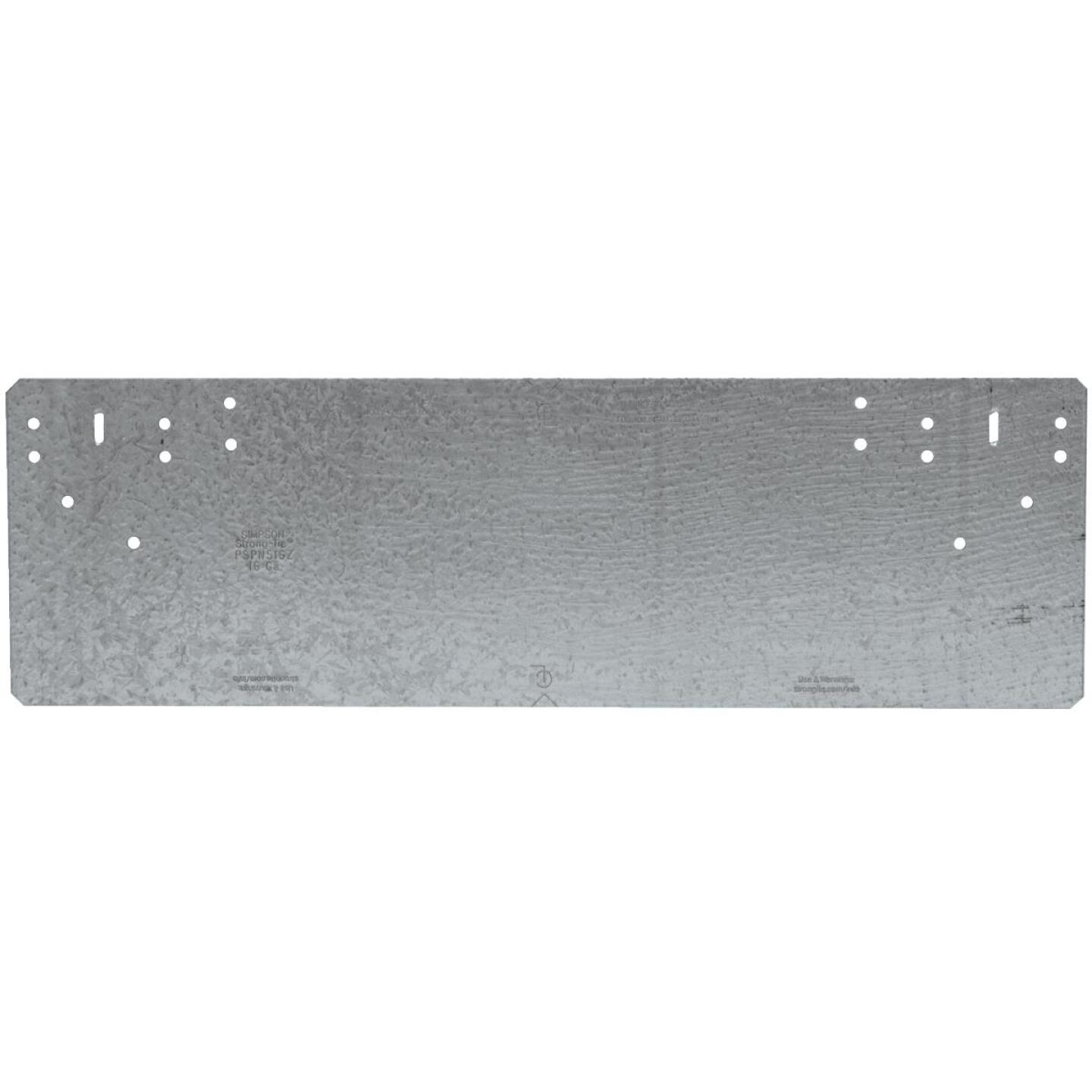 Simpson Strong-Tie 5 in. W x 16-5/16 in. L Galvanized Steel 16 Gauge Protection Plate Image 1