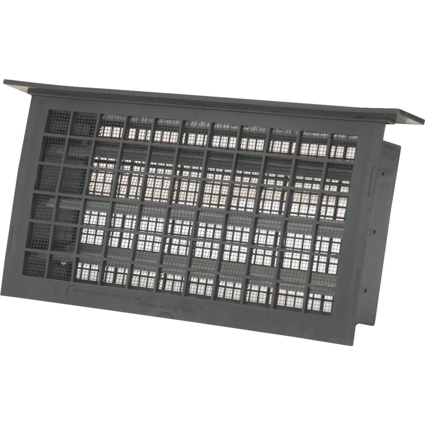 Witten 8 In. x 16 In. Black Automatic Foundation Ventilator with Lentil Image 1