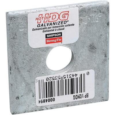 Simpson Strong-Tie 1/2 in. x 2 in. x 3/16 in. Steel Hot Dipped Galvanized Bearing Plate