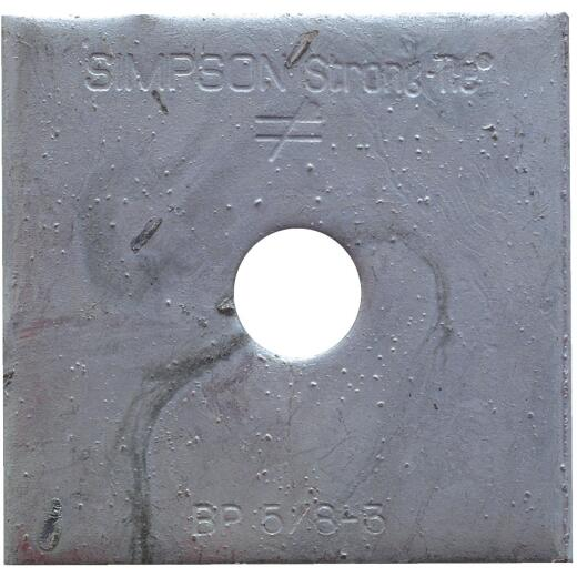 Simpson Strong-Tie 5/8 in. x 3 in. Steel Hot Dipped Galvanized Bearing Plate