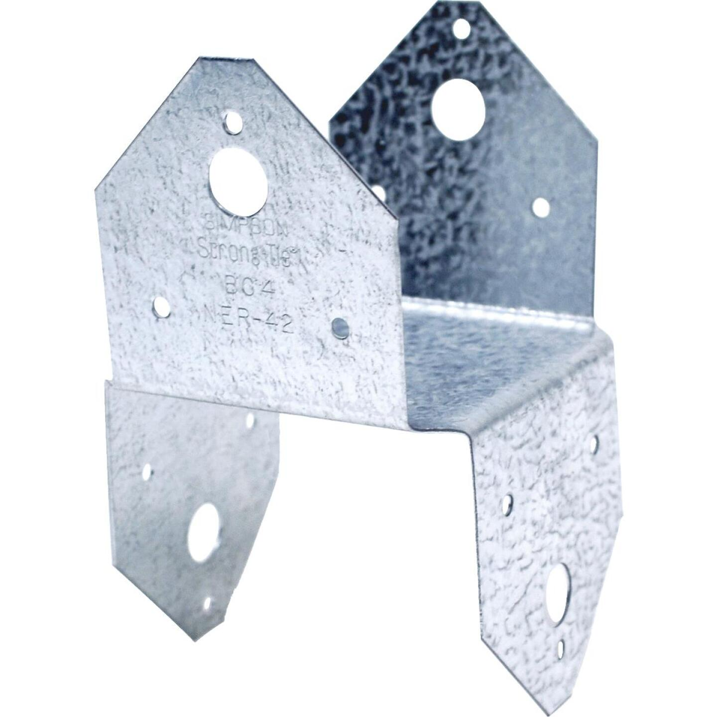 Simpson Strong-Tie 4 In. x 4 In. 18 ga Galvanized BC Post Cap & Base Image 1