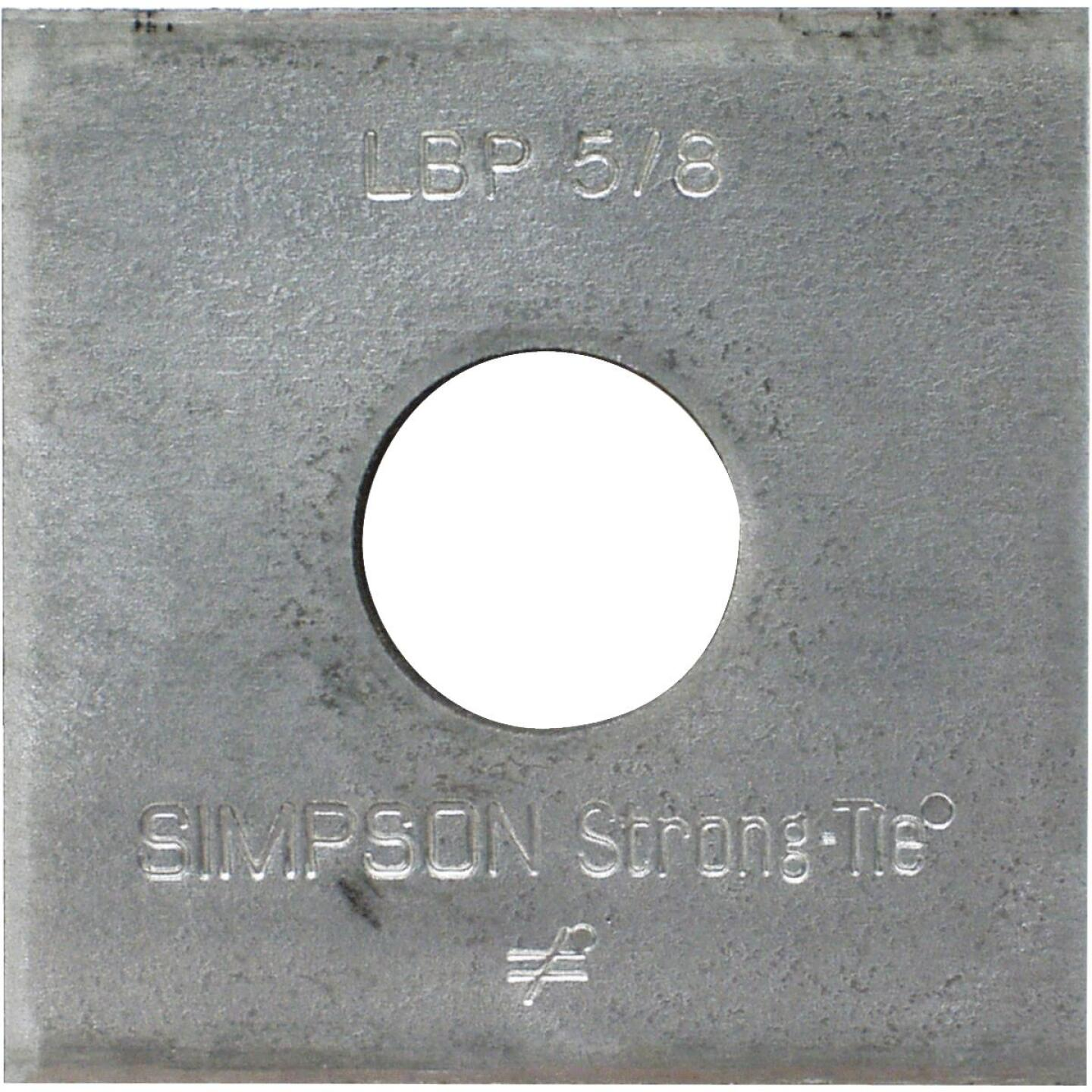 Simpson Strong-Tie 5/8 in. x 2 in. x 9/64 in. Steel Galvanized Bearing Plate Image 1