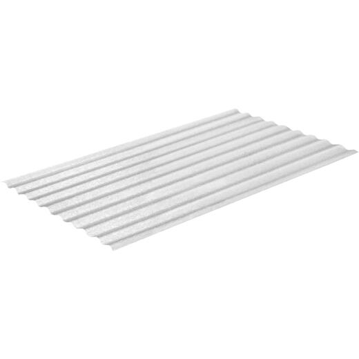 Sequentia WeatherGlaze 26 In. x 8 Ft. Clear Round 1-Sided Fiberglass Corrugated Panels