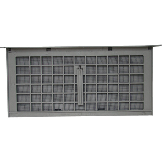Witten PMD-1 8 In. x 16 In. Gray Manual Foundation Ventilator with Damper and Lintel