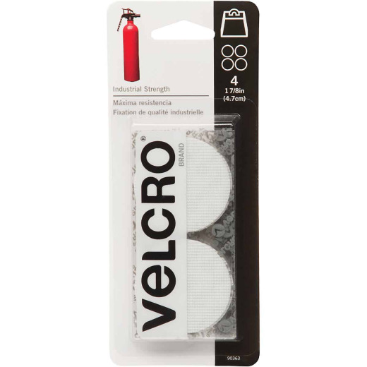 VELCRO Brand 1-7/8 In. White Industrial Strength Hook & Loop Disc (4 Ct.)