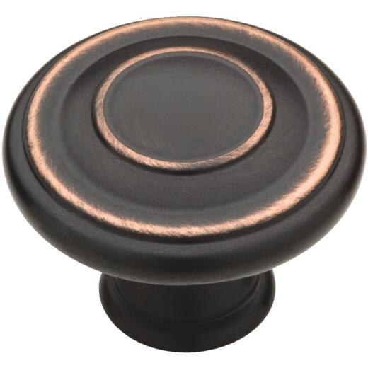 Liberty Bronze with Copper Highlights 1-3/8 In. Cabinet Knob, (2-Pack)