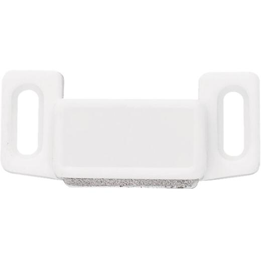 Liberty White Economy Magnetic Catch with Strike (2-Count)