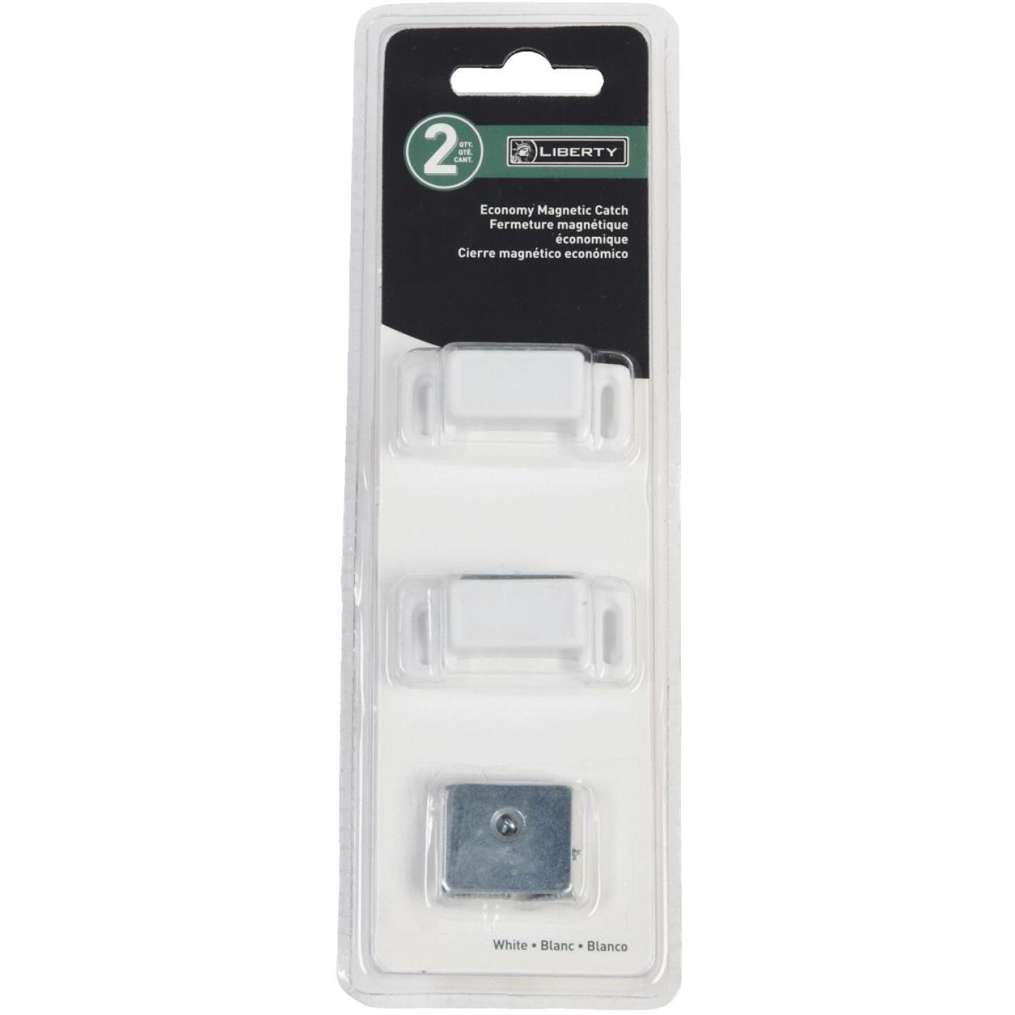 Liberty White Economy Magnetic Catch with Strike (2-Count) Image 2
