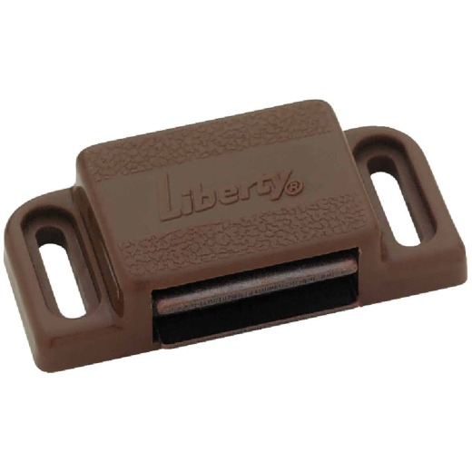 Liberty Brown Heavy-Duty Magnetic Catch with Strike (2-Count)