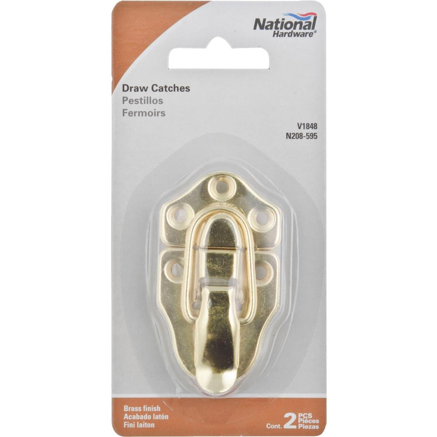 National Catalog V1848 Miniature Brass Draw Catch (2-Count) Image 2