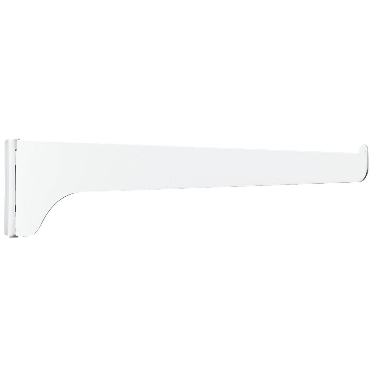 Knape & Vogt 180 Series 12 In. White Steel Regular-Duty Single-Slot Shelf Bracket Image 1