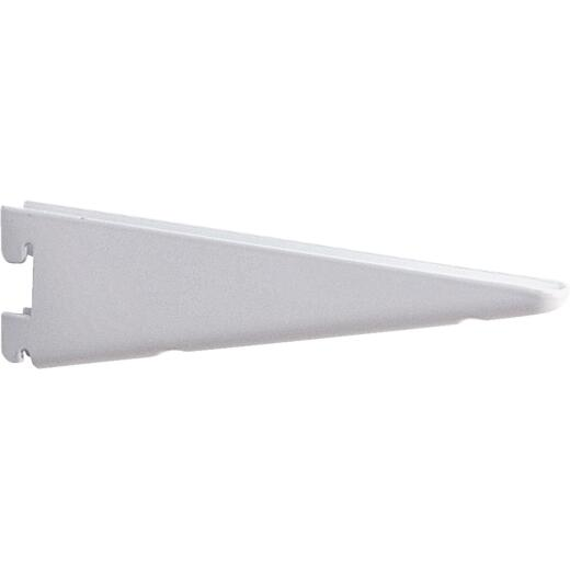 Knape & Vogt 182 Series 10-1/2 In. White Steel Heavy-Duty Double-Slot Shelf Bracket