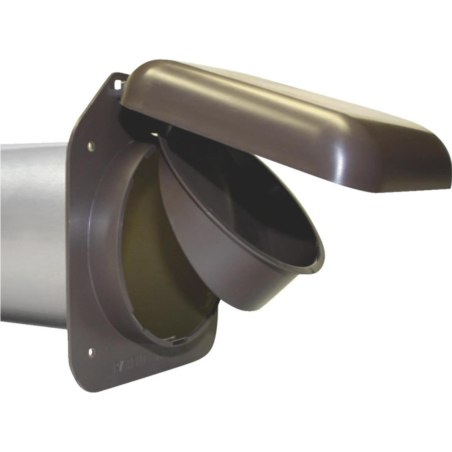 No-Pest 4 In. Brown Plastic Low Profile Dryer Vent Hood Image 1