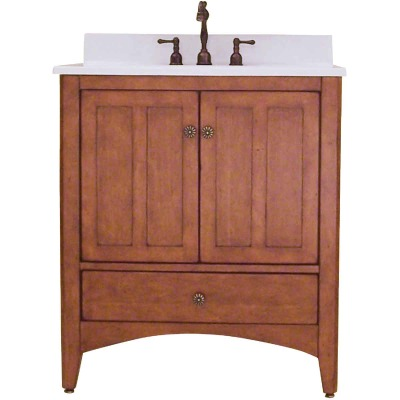 Sunny Wood Expressions Warm Cinnamon 30 In. W x 34 In. H x 21-1/4 In. D Vanity Base, 2 Door/1 Drawer