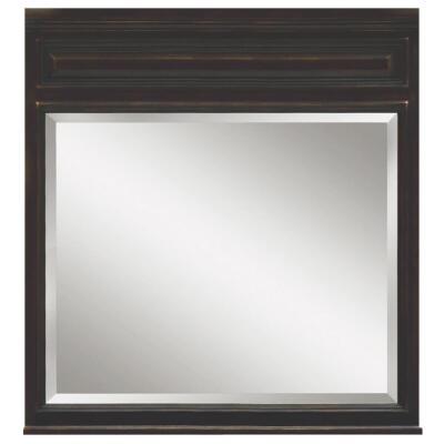 Sunny Wood Barton Hill Black Onyx 36 In. W x 38 In. H Vanity Mirror
