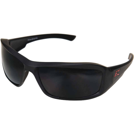 Edge Eyewear Brazeau Matte Black Frame Safety Glasses with Smoke Lenses