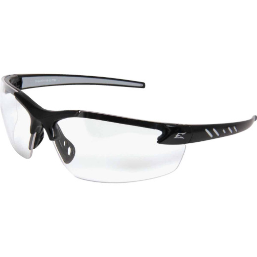 Edge Eyewear Zorge G2 Gloss Black Frame Safety Glasses with Clear Lenses