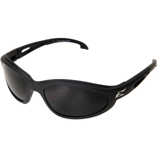 Edge Eyewear Dakura Rubberized Matte Black Frame Safety Glasses with Smoke Lenses