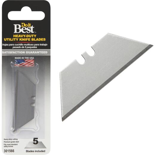 Do it Best 2-Point Heavy-Duty 2-3/8 In. Utility Knife Blade (5-Pack)