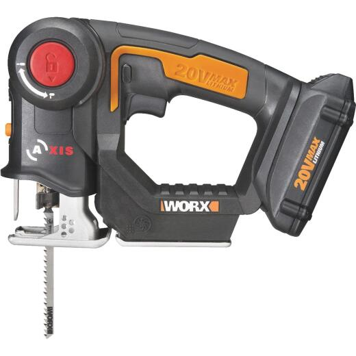 WORX 20 Volt Axis Lithium-Ion Cordless Jigsaw/Reciprocating Saw Kit