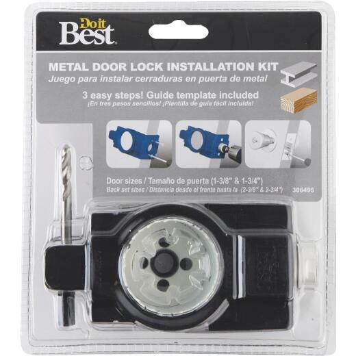 Do it Best Bi-Metal Door Lock Installation Kit for Metal Doors