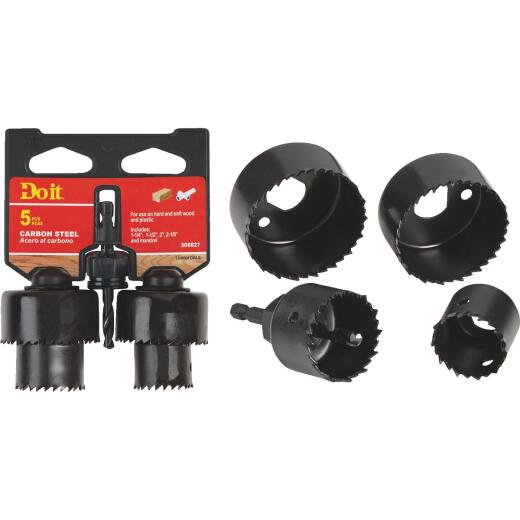Do it Carbon Steel Hole Saw Set (5-Piece)