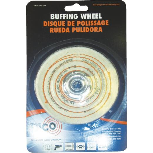 Dico 4 In. x 1/2 In. Spiral Sewn Buffing Wheel