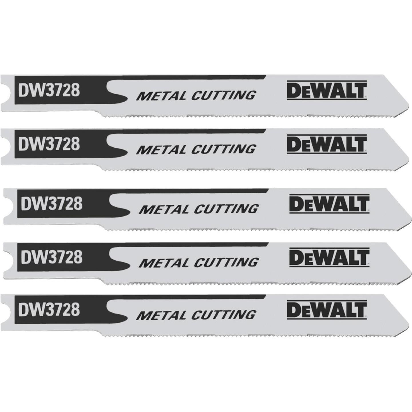DeWalt U-Shank 3 In. x 36 TPI High Carbon Steel Jig Saw Blade, Metal (5-Pack) Image 1