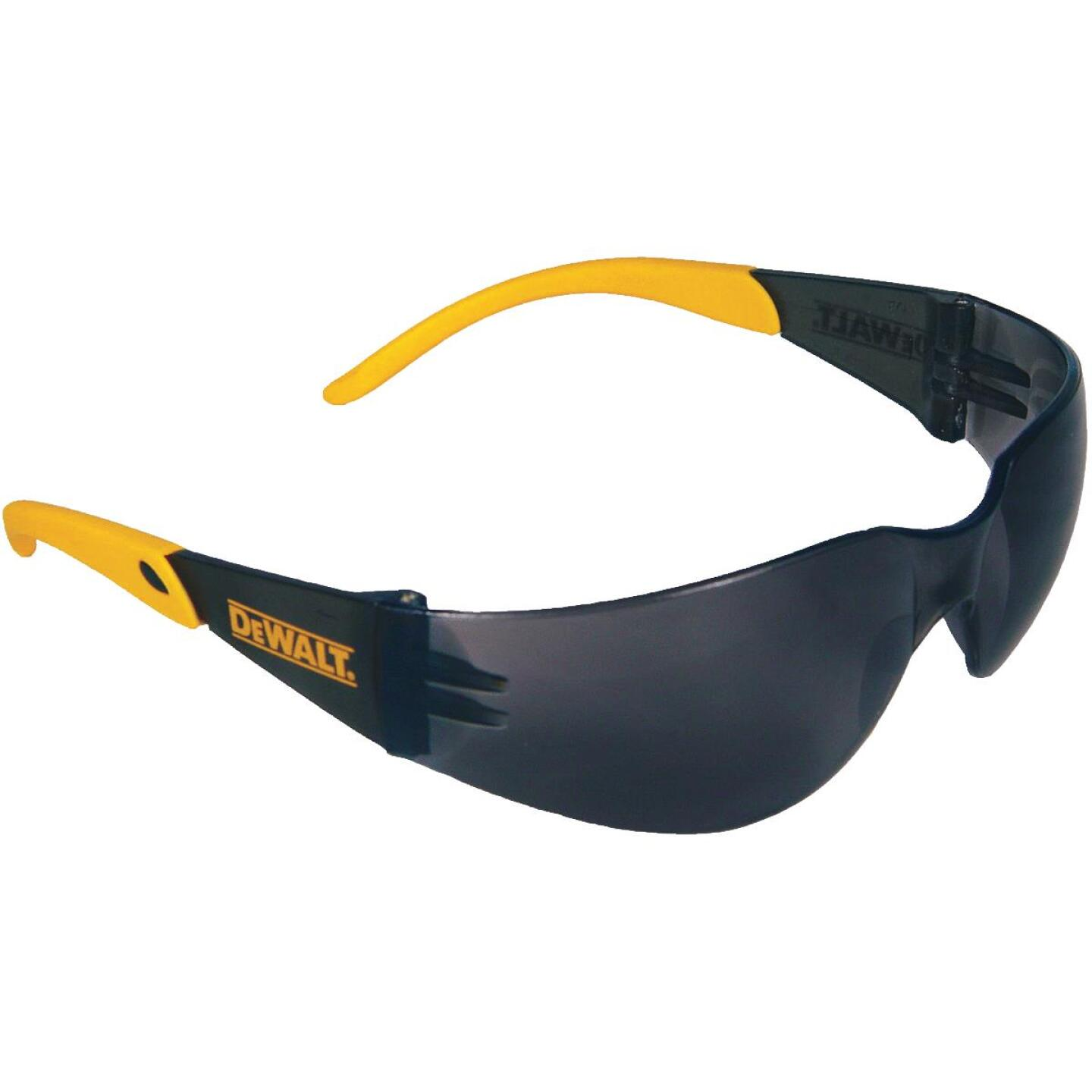 DeWalt Protector Black/Yellow Frame Safety Glasses with Smoke Lenses Image 1