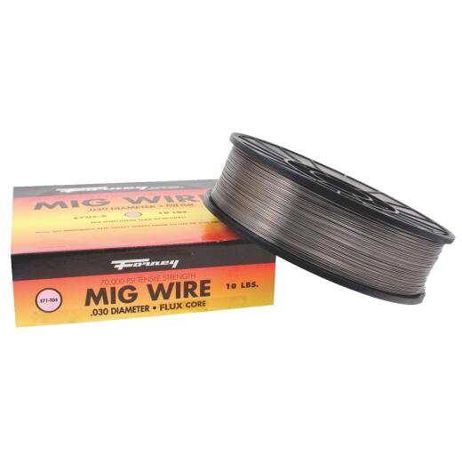 Forney E71T-GS 0.030 In. Flux Core Mild Steel Mig Wire, 10 Lb.