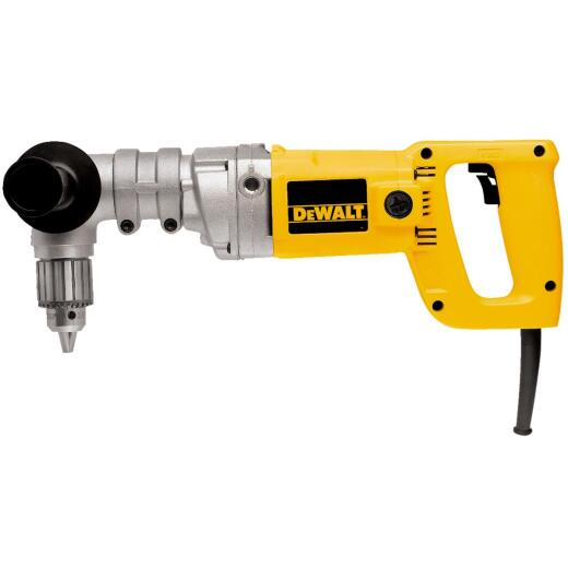 DeWalt 1/2 In. 7-Amp Keyed Electric Angle Drill with Case