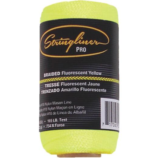 Stringliner 250 Ft. Fluorescent Yellow Braided Nylon Mason Line