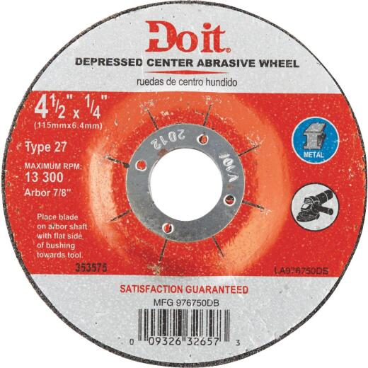 Do it 4-1/2 In.x 1/4 In. Type 27 Cut-Off Wheel