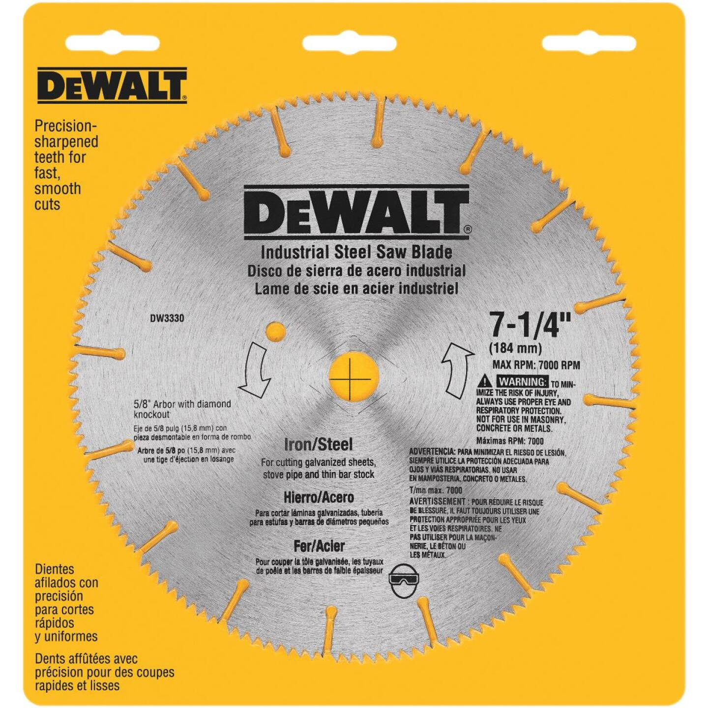 DeWalt Industrial Steel 7-1/4 In. 128-Tooth Iron/Steel Circular Saw Blade Image 2