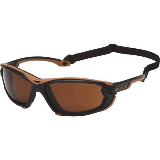 Carhartt Toccoa Black & Tan Frame Safety Glasses with Bronze H2MAX Anti-Fog Lenses