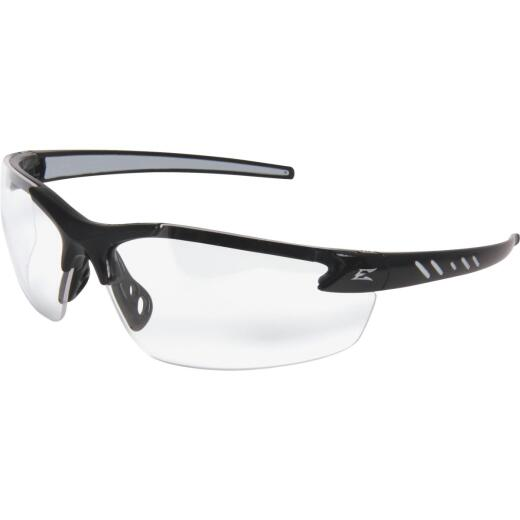 Edge Eyewear Zorge G2 Gloss Black Frame Safety Glasses with Clear Vapor Shield Lenses