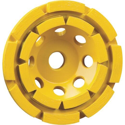 DeWalt 4-1/2 In. Double Row Diamond Cup Wheel