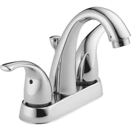 Peerless Chrome 2-Handle Lever 4 In. Centerset High Arc J Spout Bathroom Faucet with Pop-Up