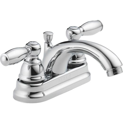Peerless Chrome 2-Handle Lever 4 In. Centerset Bathroom Faucet with Pop-Up