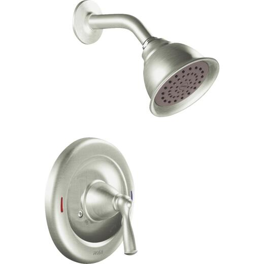 Moen Brushed Nickel 1-Handle Lever Tub and Shower Faucet