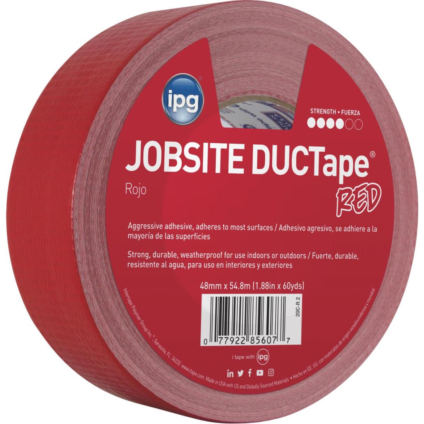 Intertape DUCTape 1.88 In. x 60 Yd. General Purpose Duct Tape, Red Image 1