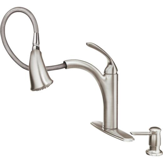 Moen Kinzel Single Handle Pull-Out Kitchen Faucet, Stainless