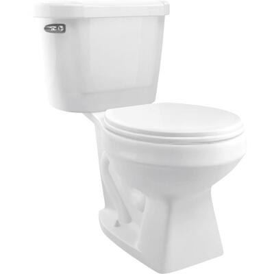 Cato Jazmin White Round Bowl 1.28 GPF Toilet-To-Go