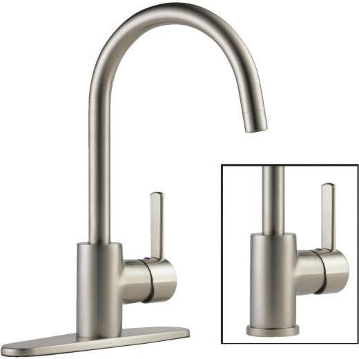 Peerless Apex Single Handle Lever Kitchen Faucet with Side Spray, Stainless