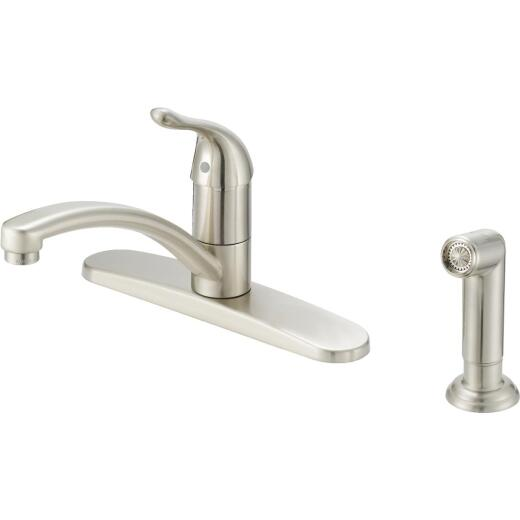 Home Impressions Single Handle Lever Kitchen Faucet with Side Spray, Brushed Nickel