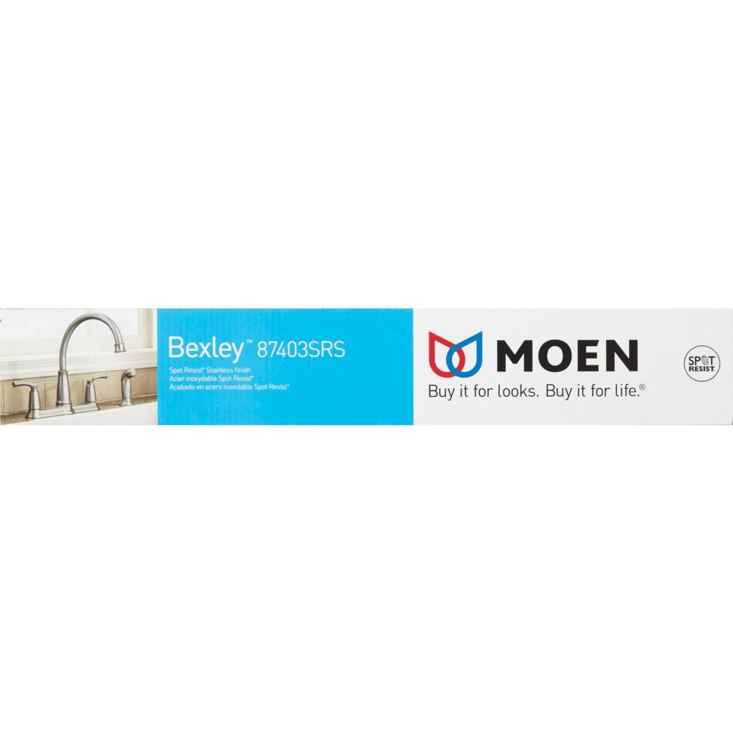 Moen Bexley Dual Handle Lever Kitchen Faucet with Side Spray, Stainless Image 2