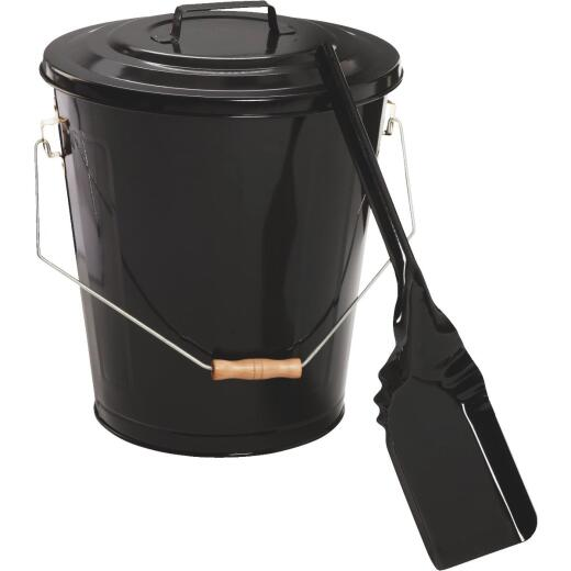 Home Impressions 13 In. W x 14 In. H Black Ash Container & Shovel